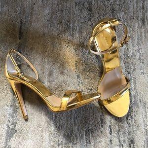 Zara Gold Strappy Sandals